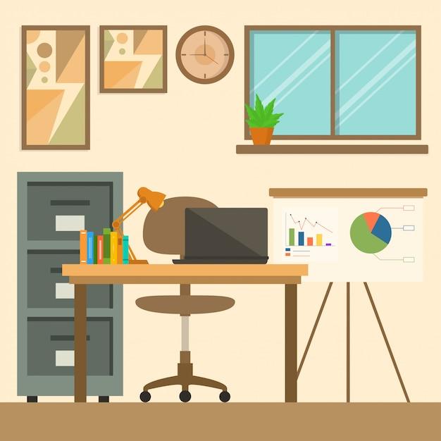 Arbeitsbereich hintergrund Premium Vektoren