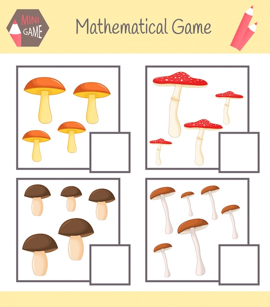 Arbeitsbuch zur mathematik für die vorschulerziehung Premium Vektoren