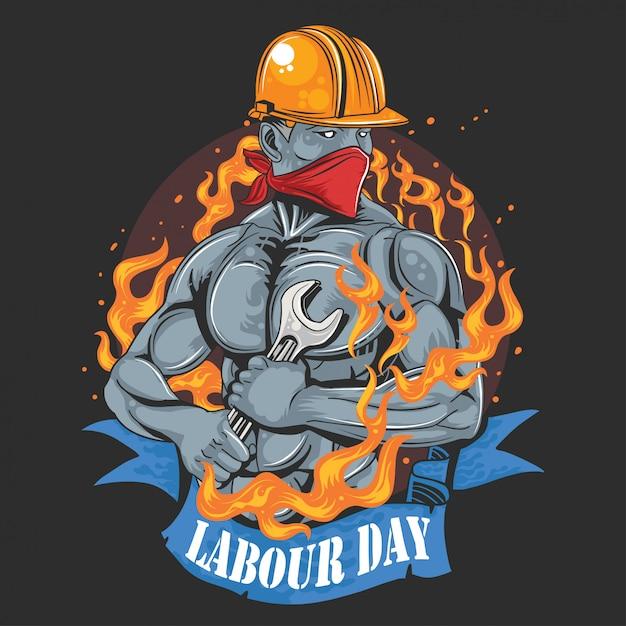 Arbeitstag 1 mai tag ok Premium Vektoren