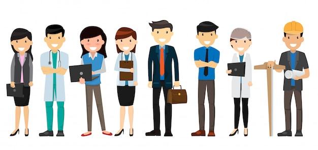 Arbeitstag-konzept Premium Vektoren
