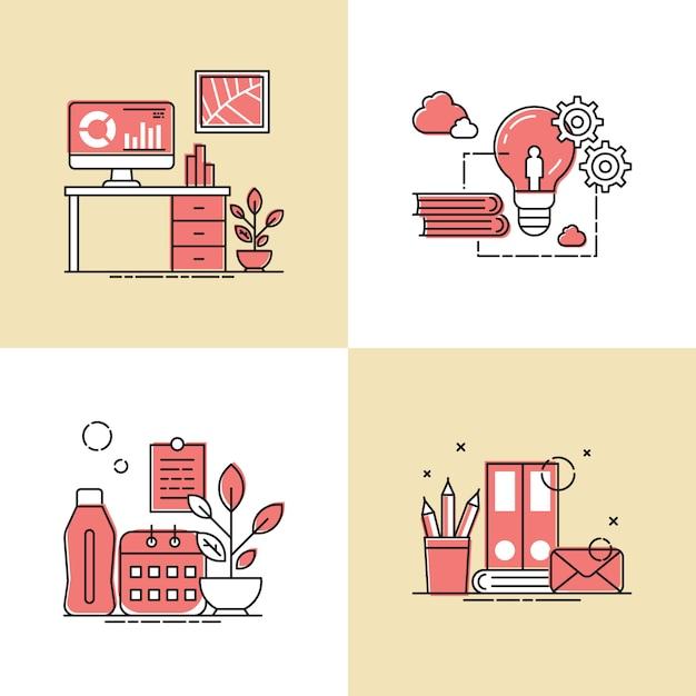 Arbeitswerkzeug design vektor-illustration Premium Vektoren