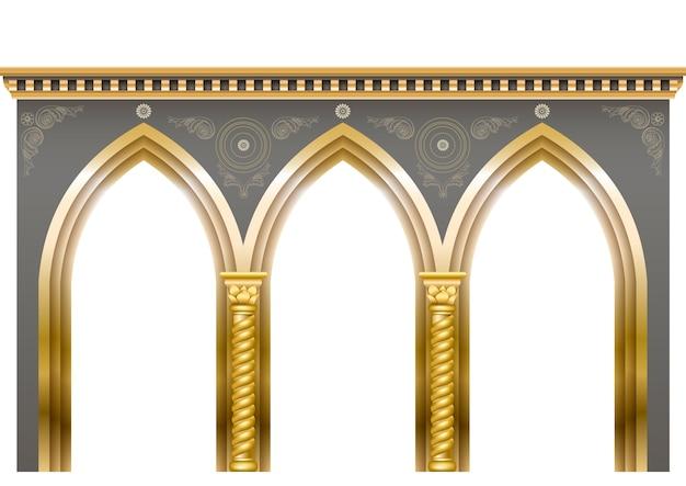 Arcade im orientalischen stil Premium Vektoren