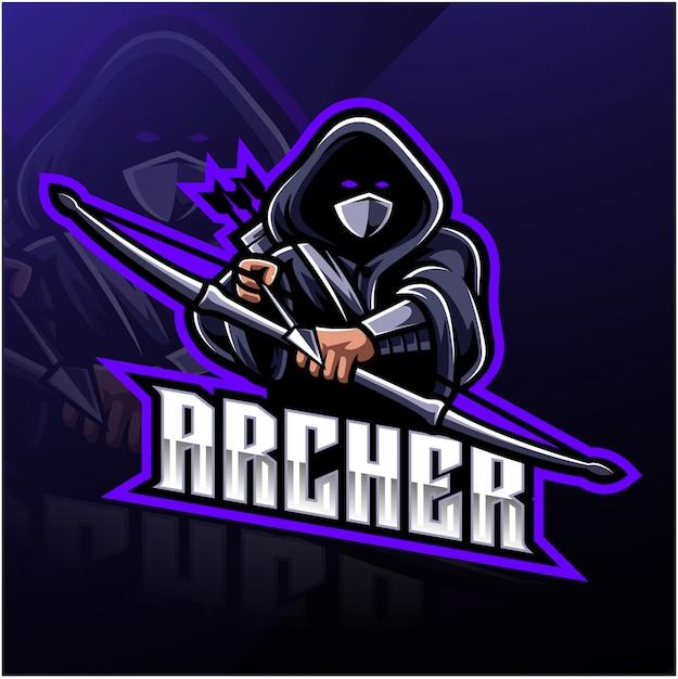 Archer sport maskottchen logo Premium Vektoren