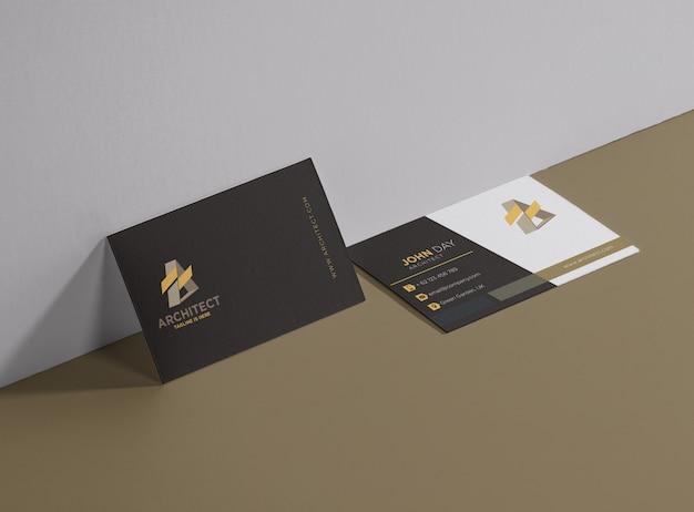 Architekt-visitenkarte Premium Vektoren