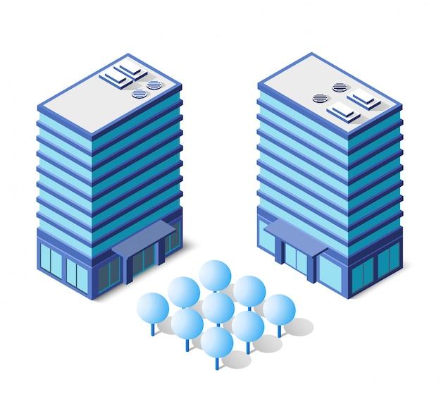 Architektur in blau Premium Vektoren