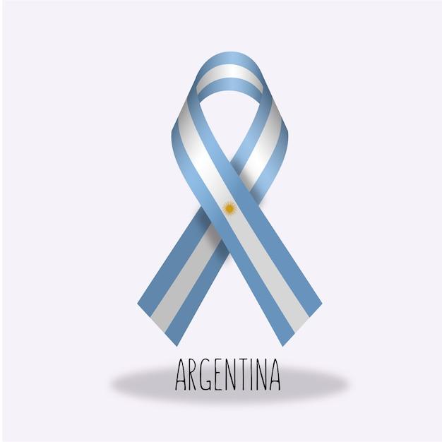 Argentinien-flaggenbandentwurf Kostenlosen Vektoren