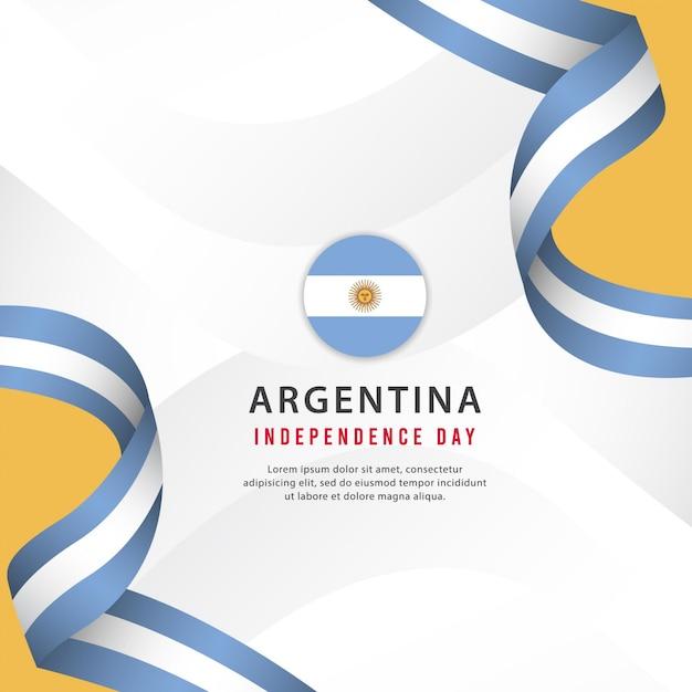 Argentinien unabhängigkeitstag vorlage. design für banner, grußkarten oder druck. Premium Vektoren