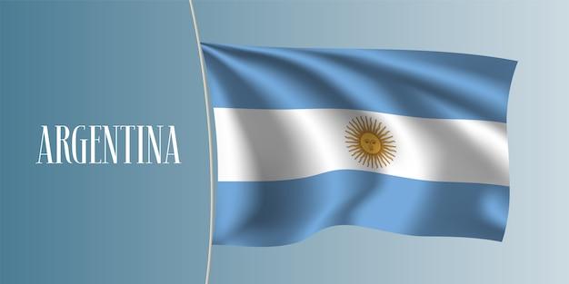 Argentinien winken flaggenillustration Premium Vektoren