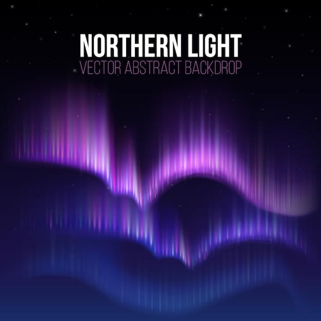 Arktische aurora, nordlichter in polaris alaska Premium Vektoren