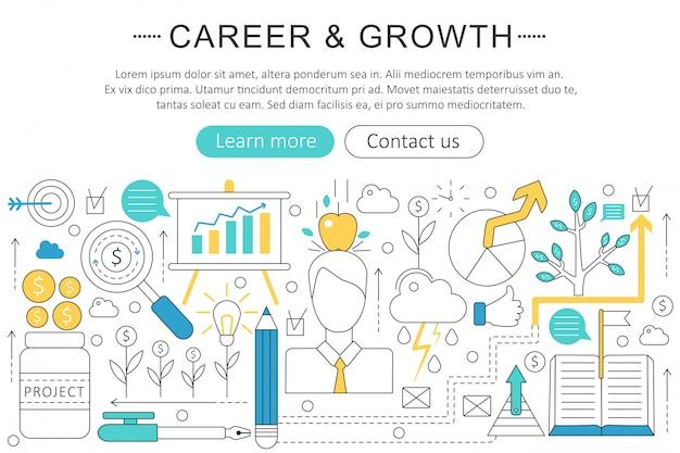Art career und wachstumskonzept Premium Vektoren