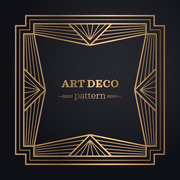 Art-deco-rahmen hintergrund Kostenlosen Vektoren
