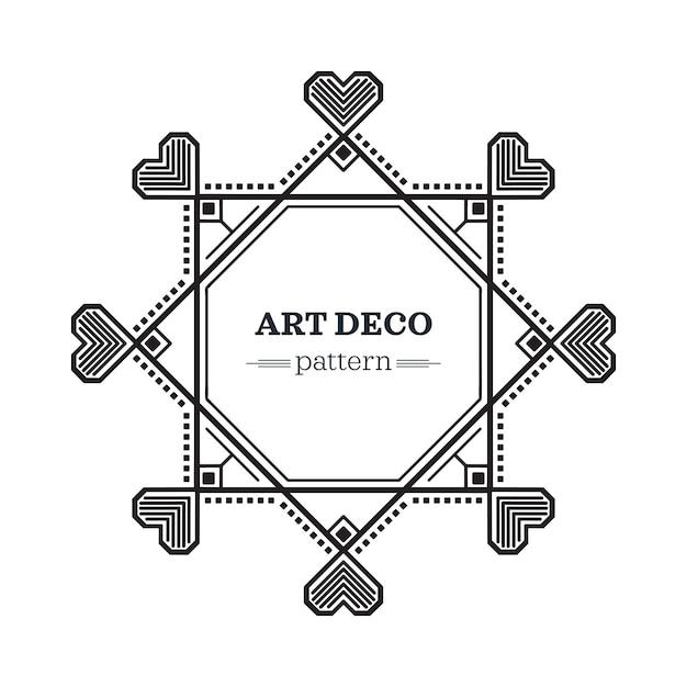 Art-deco-rahmen Kostenlosen Vektoren