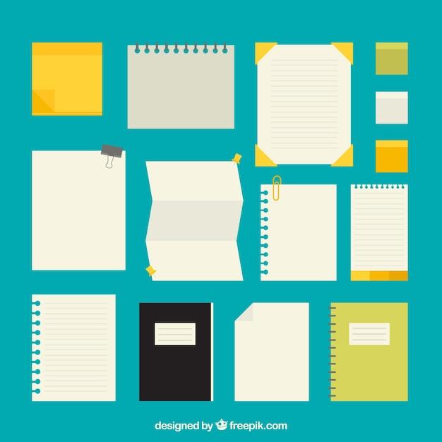 Arten papiere pack Kostenlosen Vektoren