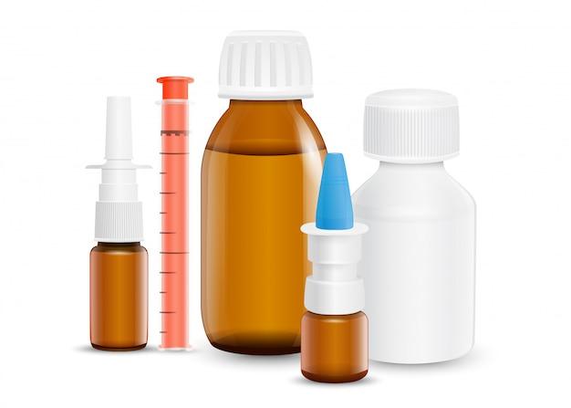 Arzneimittel zur behandlung verschiedener beschwerden und symptome. Premium Vektoren