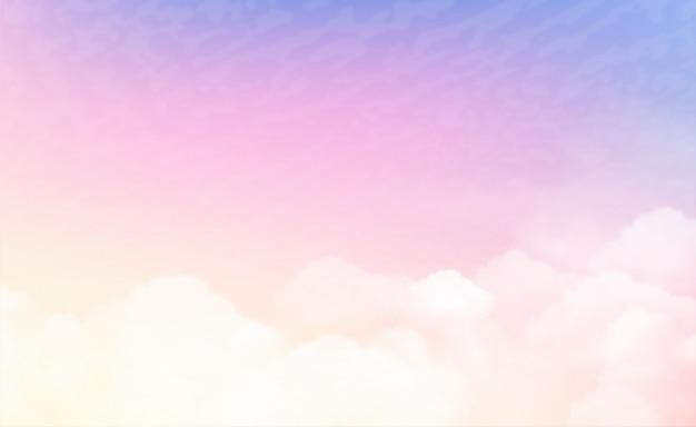 Asbtract himmel in pastellfarben Premium Vektoren