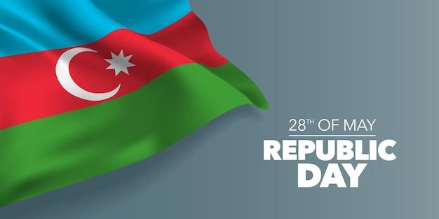 Aserbaidschan glücklich republik tag feiertag 28. mai design Premium Vektoren
