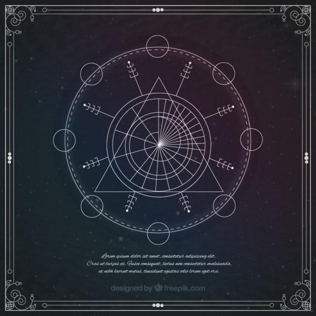 Astrologische geometrische symbol Kostenlosen Vektoren