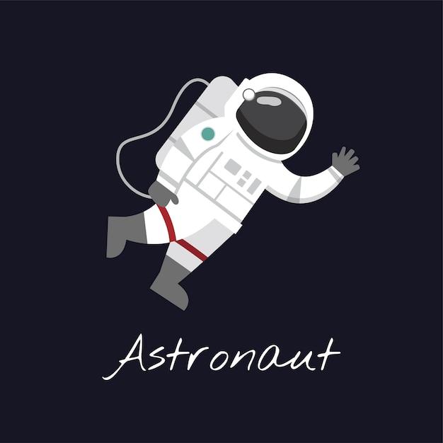 Astronaut im weltraum vektor Kostenlosen Vektoren