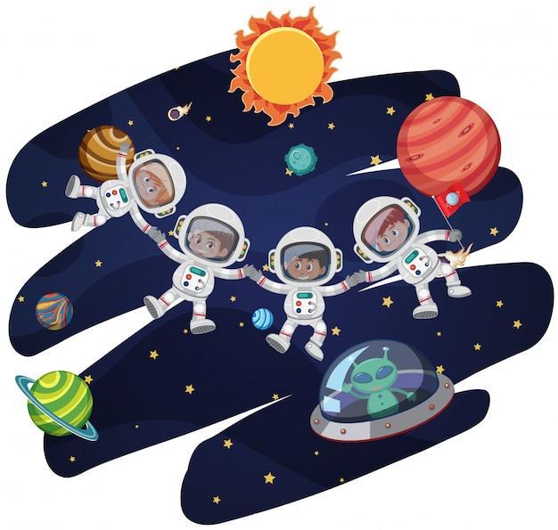 Ausmalbilder Himmel Weltraum Raumfahrt Sonne Mond Sterne
