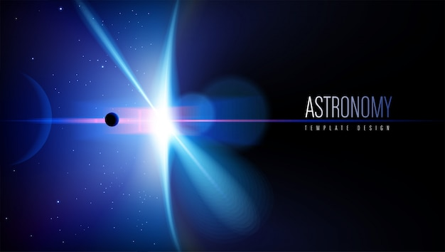Astronomie theme template design Premium Vektoren