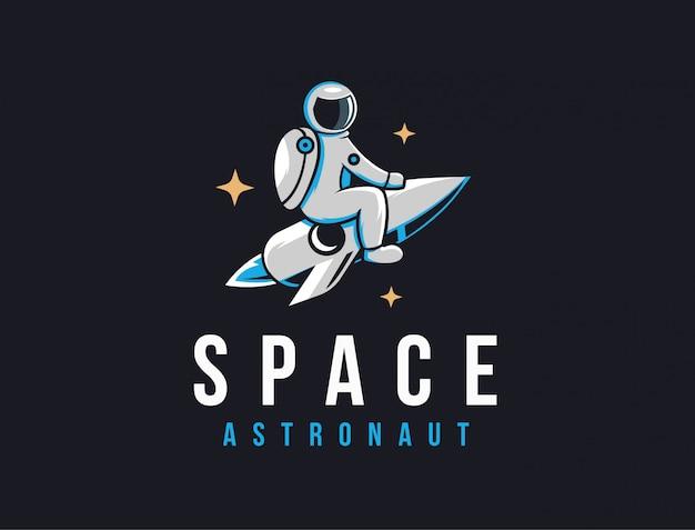 Astronout-logo Premium Vektoren