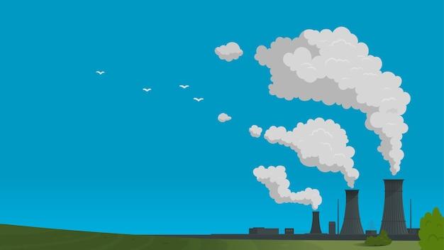 Atomenergie-industrie Premium Vektoren