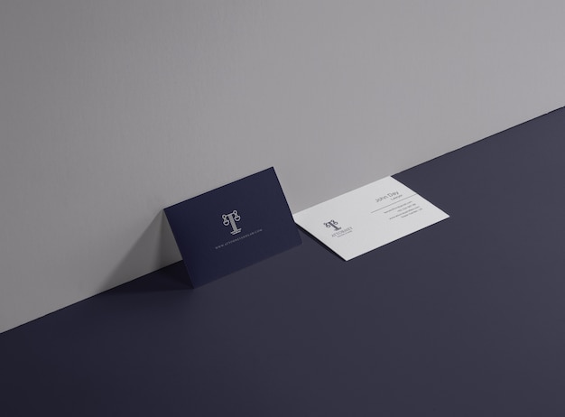 Attoerney und law business card Premium Vektoren