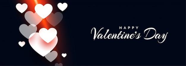 Attraktive glückliche valentinstagherzfahne Kostenlosen Vektoren