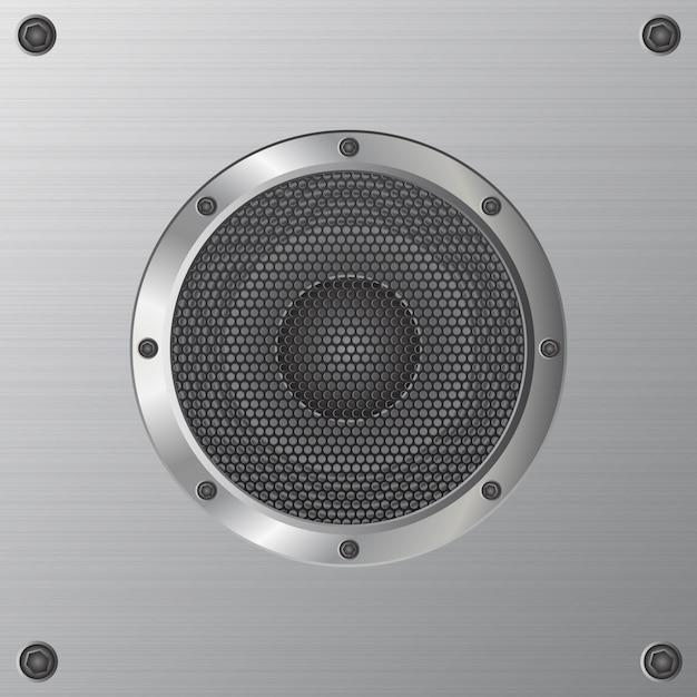 Audio-lautsprecherillustration lokalisiert auf weiß Premium Vektoren