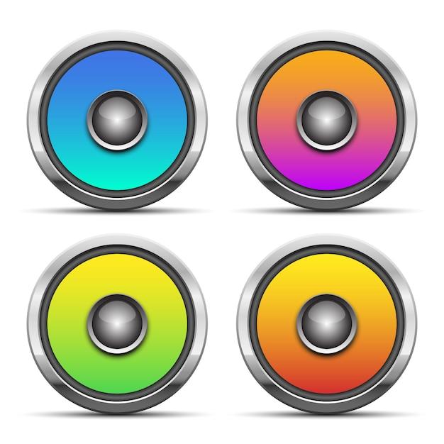 Audio-sprecherillustration auf weißem hintergrund Premium Vektoren