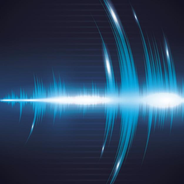 Audiogestaltung. Premium Vektoren