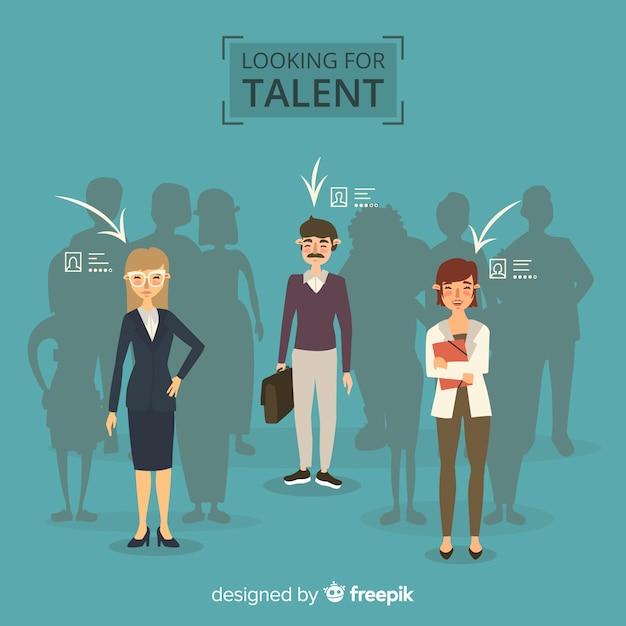 Auf der suche nach talent hintergrund Kostenlosen Vektoren