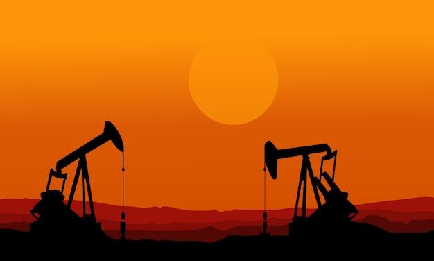 Auf orange hintergrund schlechte umwelt Premium Vektoren