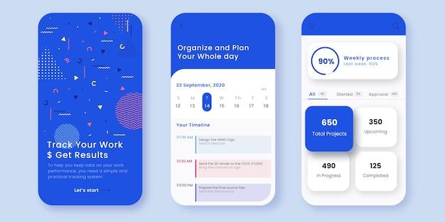 Aufgabenverwaltungs-app-vorlage Premium Vektoren