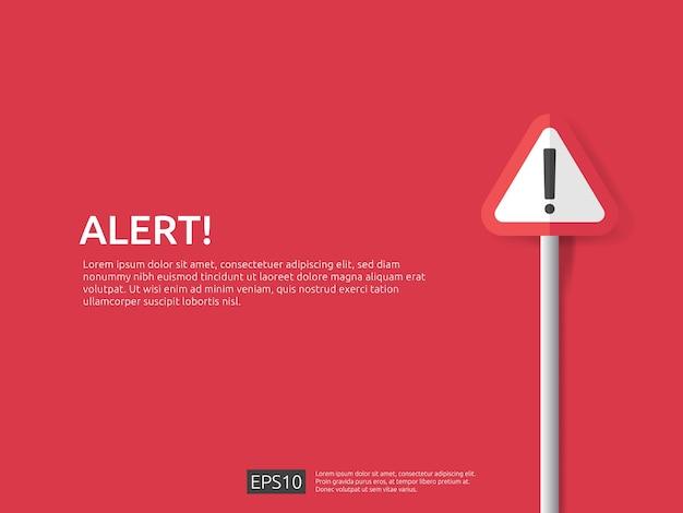 Aufmerksamkeit warnzeichen banner Premium Vektoren