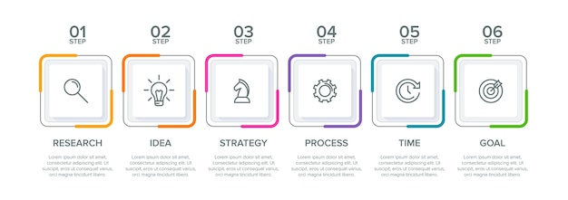 Aufschlussreiche infografik-vorlage Premium Vektoren