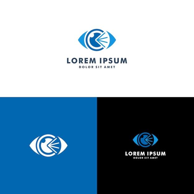 Auge logo vorlage Premium Vektoren