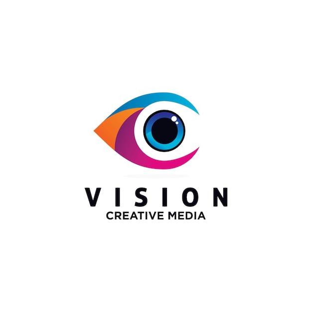 Augen logo design vektor vorlage Premium Vektoren