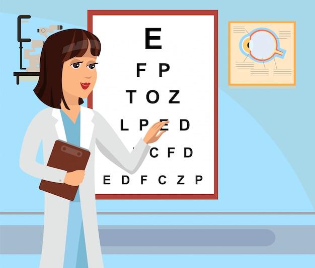 Augenarzt Premium Vektoren