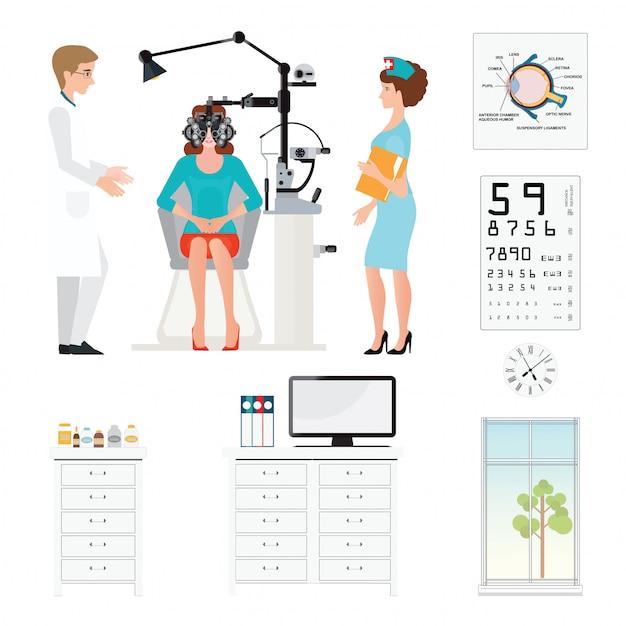 Augenarztraum Premium Vektoren