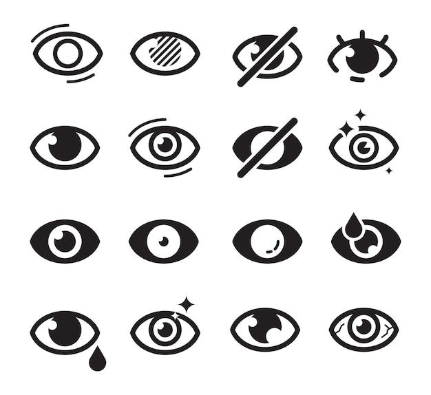 Augensymbol. optische pflege symbole sehkraft vision katarakt jalousien gut aussehende medizin bilder suchen Premium Vektoren