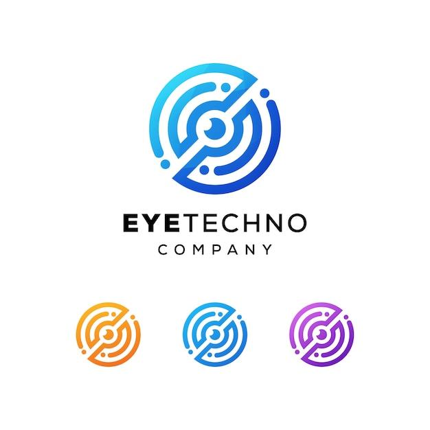 Augentechnologie-logo Premium Vektoren
