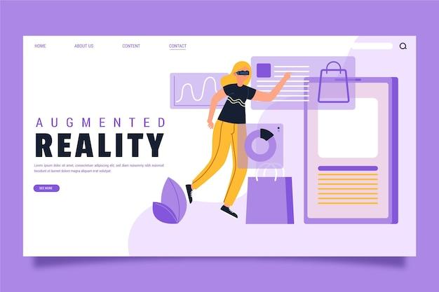 Augmented reality homepage Kostenlosen Vektoren