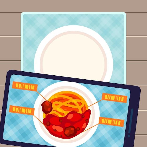 Augmented reality konzept illustration Premium Vektoren