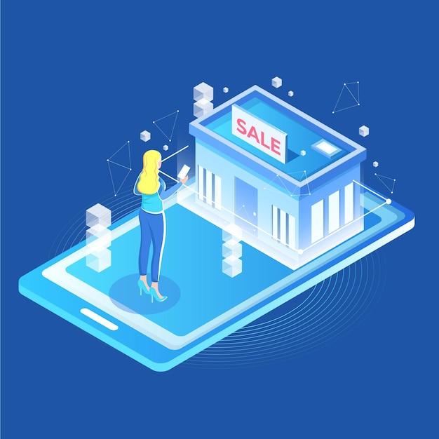 Augmented reality zum online-shopping Kostenlosen Vektoren