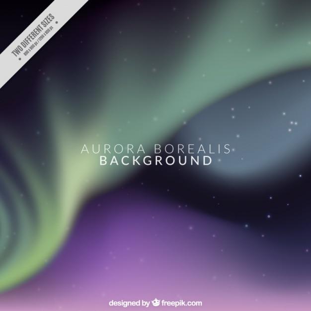Aurora borealis hintergrund Kostenlosen Vektoren