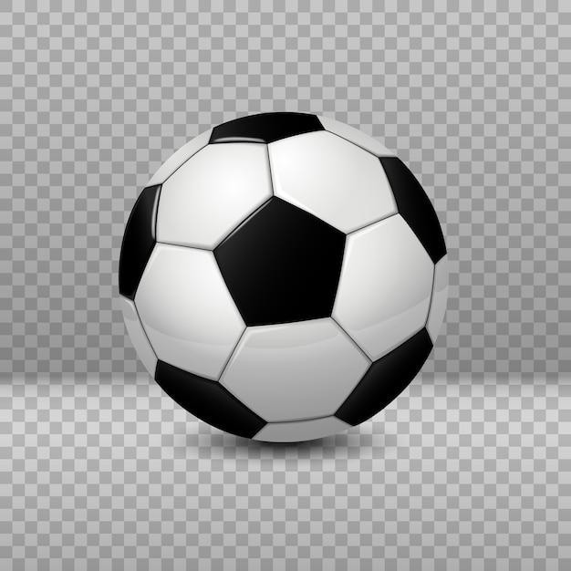 Ausführlicher fußball lokalisiert auf transparentem hintergrund Premium Vektoren