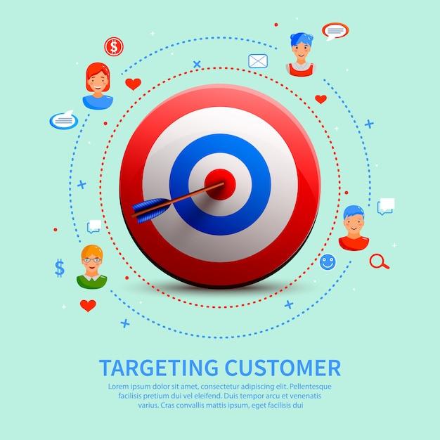 Ausrichtung auf die zusammensetzung der kundenrunde Kostenlosen Vektoren