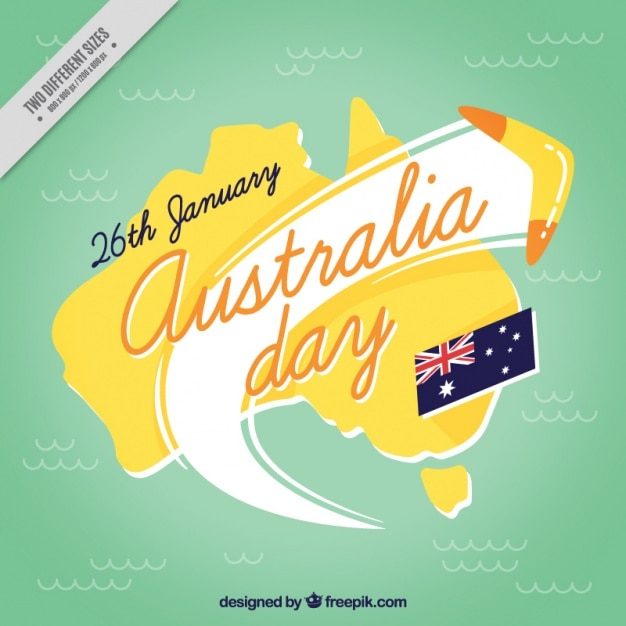 Australien tag hintergrund mit bumerang Kostenlosen Vektoren