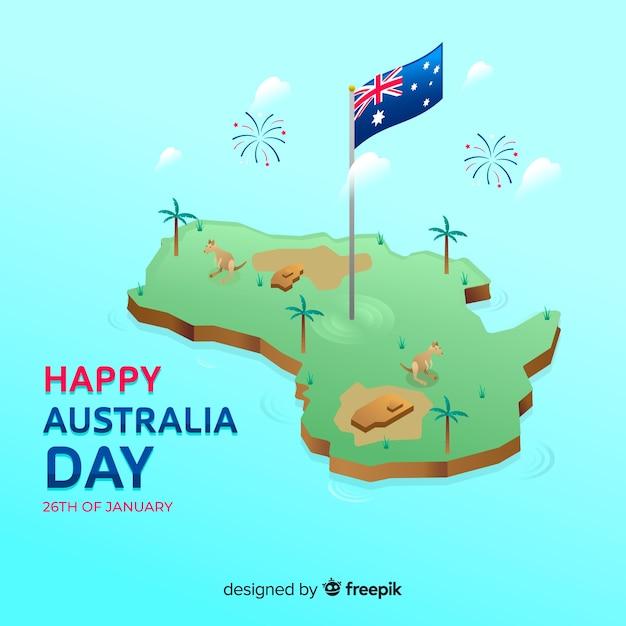 Australien tag hintergrund Kostenlosen Vektoren